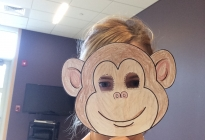 Miss Lizzy in her Monkey Mask