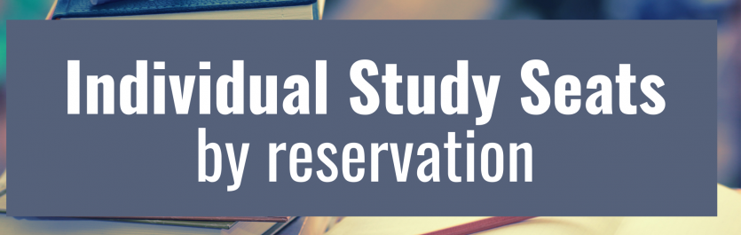 Individual Study Seats by Reservation Banner Photo